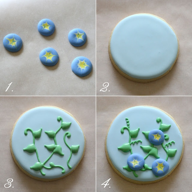 <3 ~ How to Decorate Morning Glory Cookies ~
