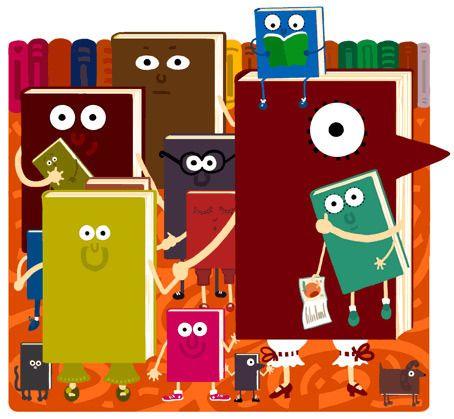 Фамилия де Libros (ilustración де Вивиан дель Рио) #biblioteques_UVEG