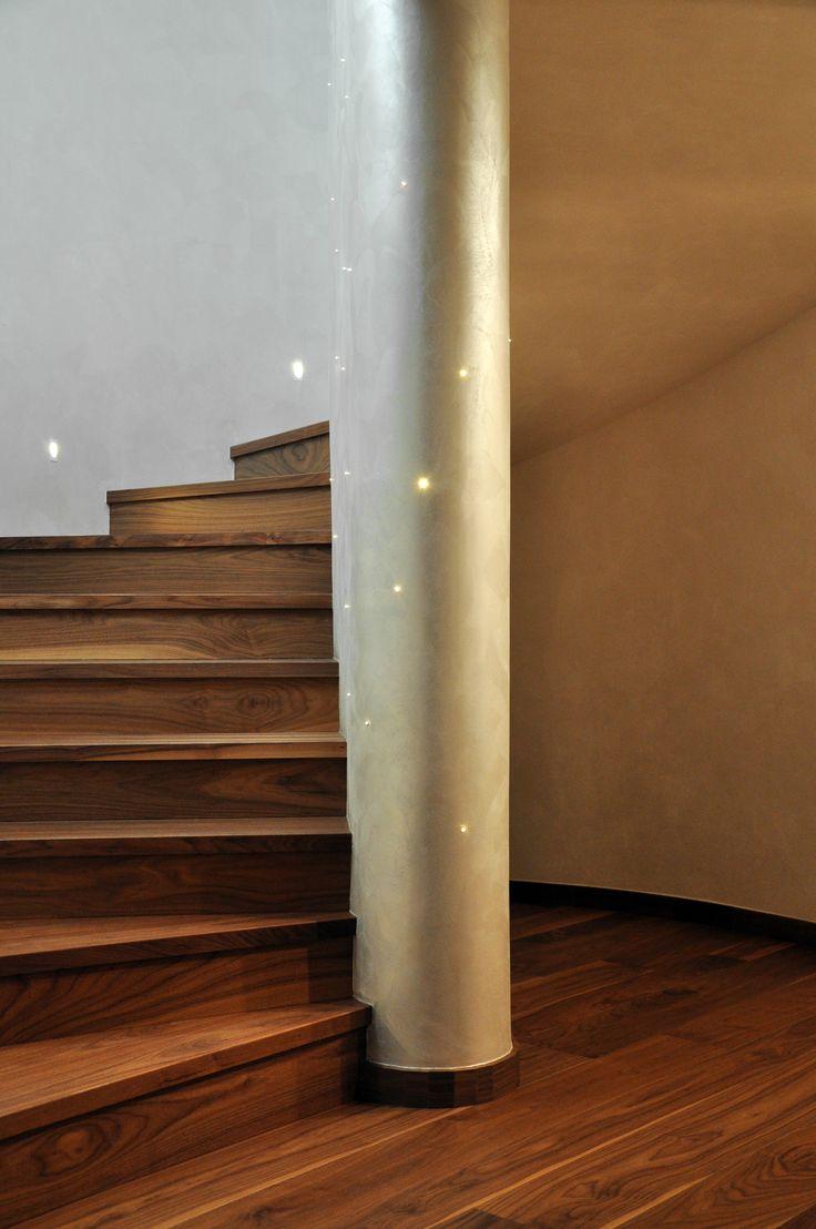 Nuova edificazione villa unifamiliare - Vano scala - Particolare illuminazione - Maria Teresa Azzola Designer - Gorlago (BG) 2014