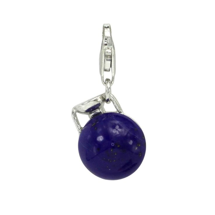 Ancient Greek Style Lapis Lazuli Aryballos Vase Charm - IntergemCorp