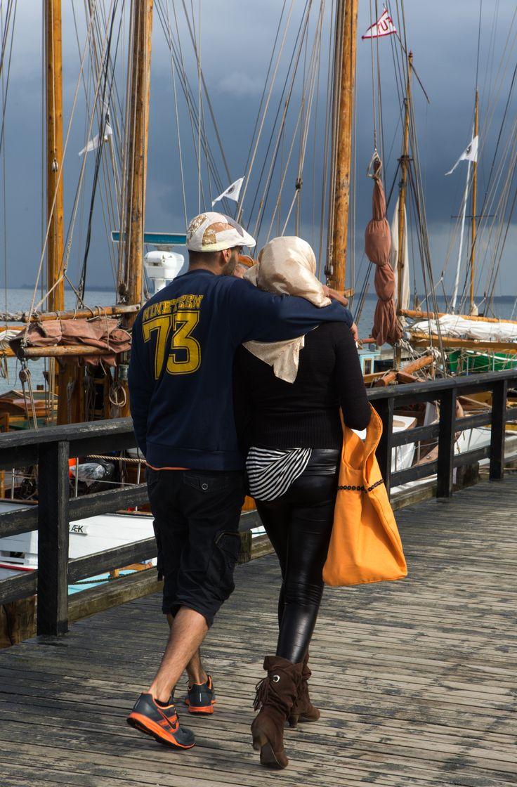 Den lange kongemole på Rørvig havn