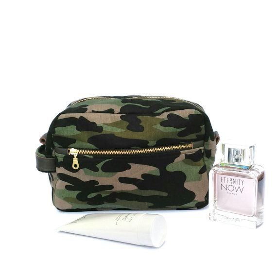 Mens Camo Dopp Kit Camo Toiletry Case Camouflage by OneBusySloth
