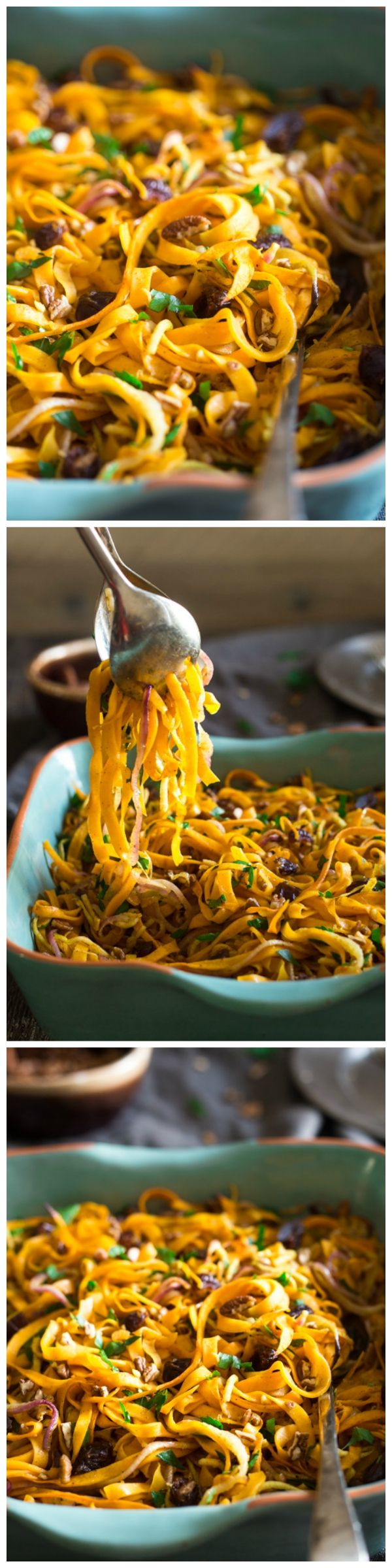 Paleo & Vegan Curried Maple Spiralized Apple and Butternut Squash Salad - This salad is full of apples, dates and pecans. It has a spicy-sweet flavor and is a healthy, paleo and vegan friendly side dish! Perfect for Thanksgiving! Repin & like. Listen to #NoelitoFlow #Noel http://www.twitter.com/noelitoflow http://www.instagram.com/rockstarking http://www.facebook.com/thisisflow