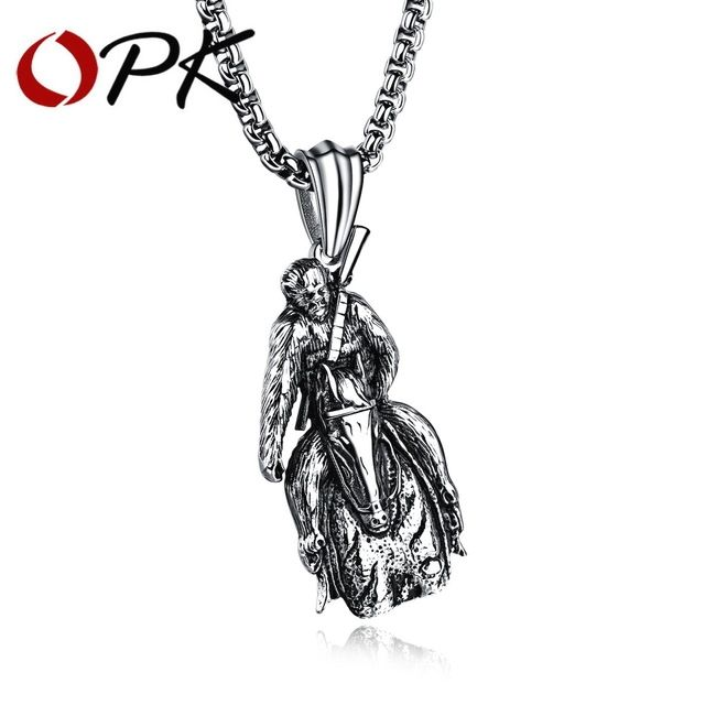 Daesar Stainless Steel Necklaces Mens Pendant Necklace Zircon Feathers