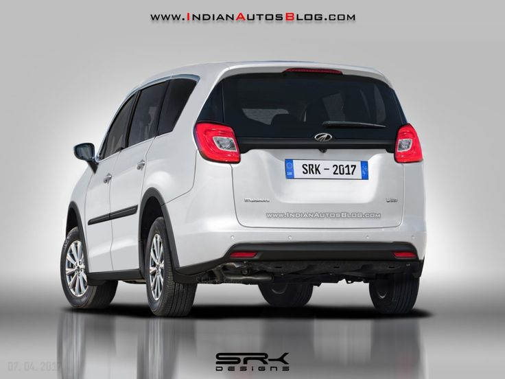 Rear of the #Mahindra #U321 (#Toyota #Innova rival) rendered
