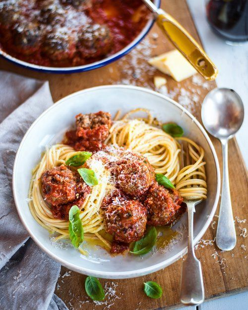 Italian Meatballs with a Rich Tomato Sauce — THE HUNGRY COOK