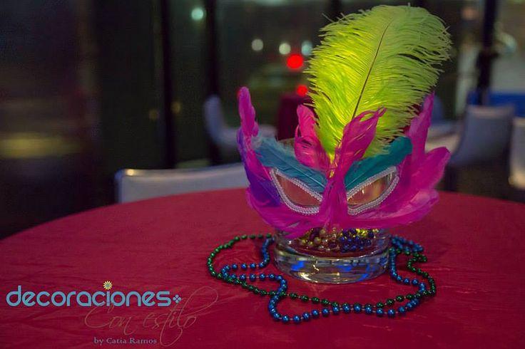 Decoraci n 15 a os m scara decoraci n carnaval - Mascaras venecianas decoracion ...