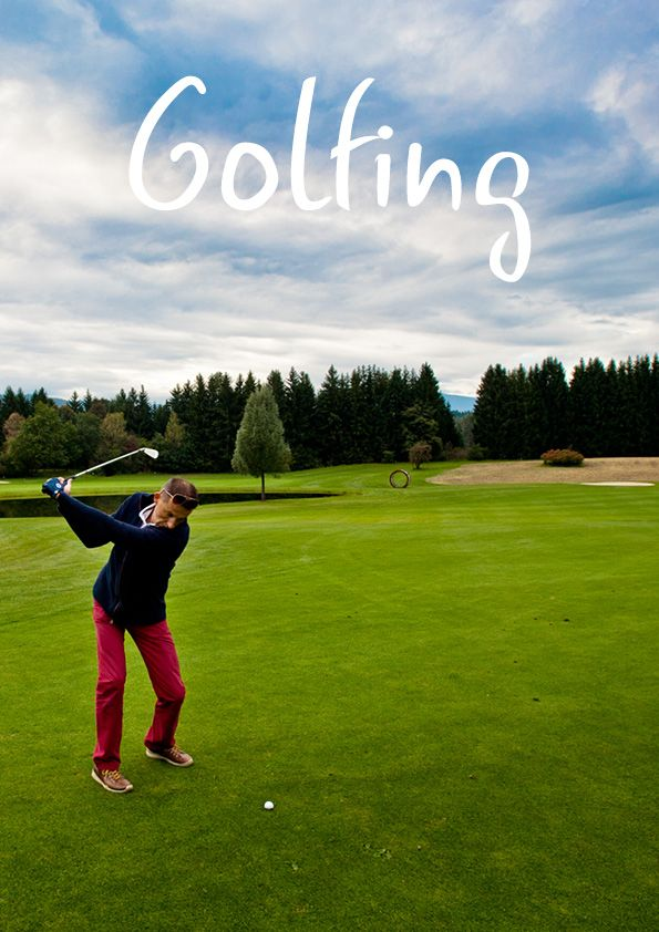 Playing golf in Villach