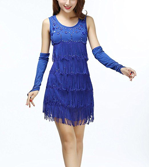 DALANEY WANTS PURPLE RYLEE WANTS BLUE Amazon.com: Whitewed Vintage Beaded Fringe Art Deco 1920s Flapper Style Dress Costume Black: Clothing