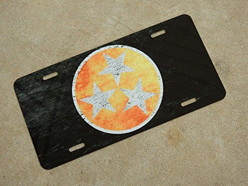 Distressed Tennessee Tri-Star License Plate -- Check this awesome product by going to the link at the image.