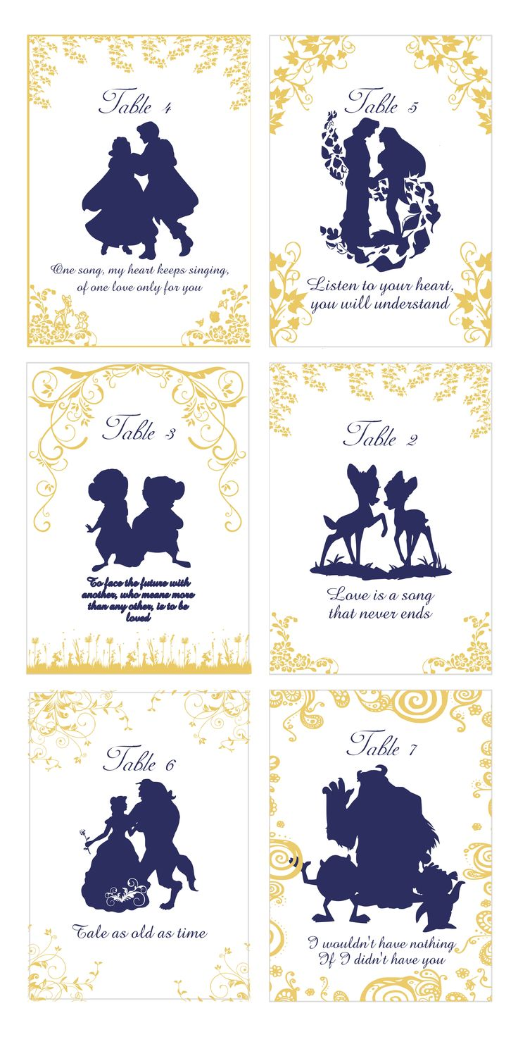 Quotable Story Book Table Numbers, Disney Princess Quotable Table Cards, prefect for weddings, birthday, and anniversaries!  Click here to get yours!
