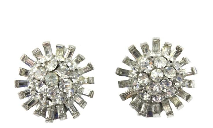 House of Lavande Vintage 1950's button earrings