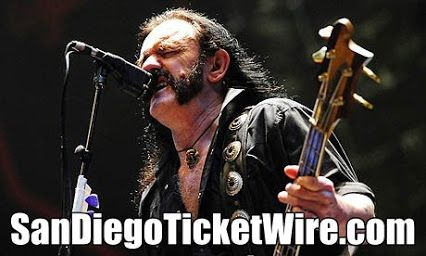 Metal Giant, Lemmy Kilmister and Motorhead announces end of summer tour. Tickets onsale now! http://www.sandiegoticketwire.com/results-general?kwds=Motorhead