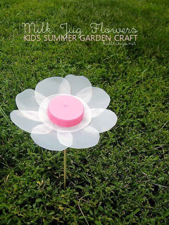 Milk Jug Flowers Summer Garden Kids Craft