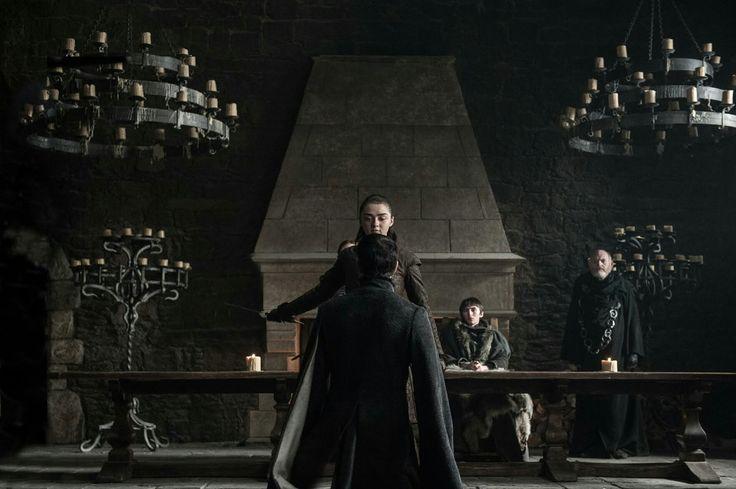 Arya executing Petyr Baelish