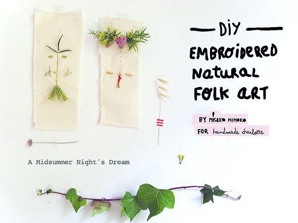 DIY Folk Art Nature Embroidery via @MisakoMimoko eva