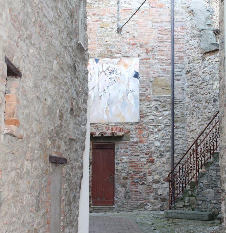 Mugnano. Umbria, Italia - il paese dei Muri Dipinti