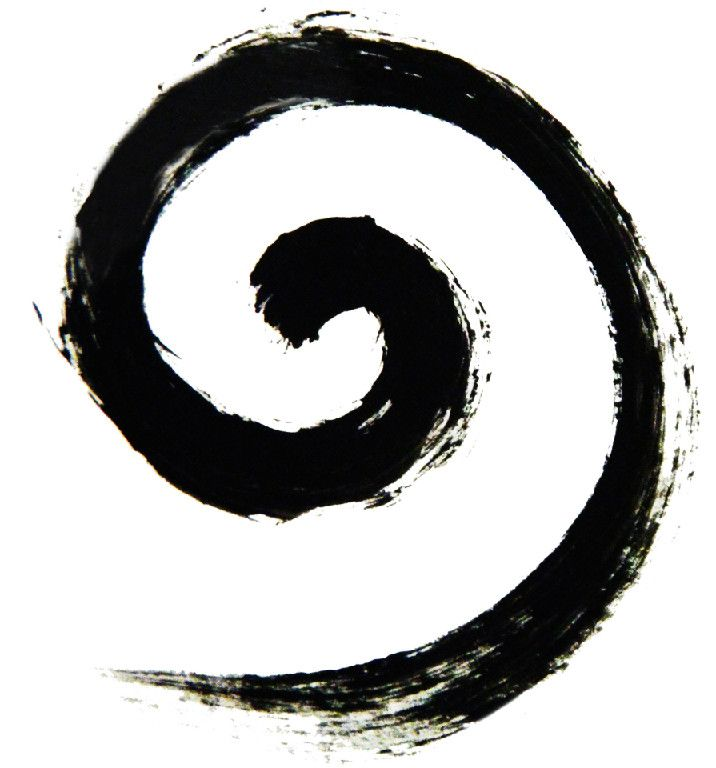 koru a spiral shape fern of new zealand symbolizing new
