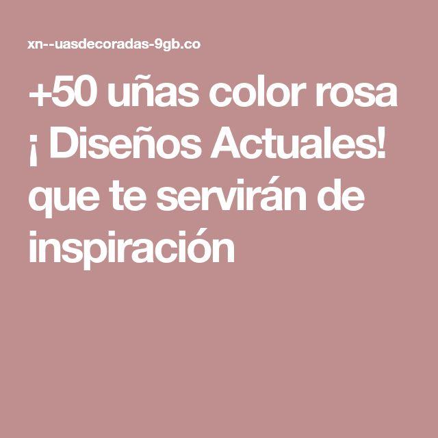 +50 uñas color rosa ¡ Diseños Actuales! que te servirán de inspiración