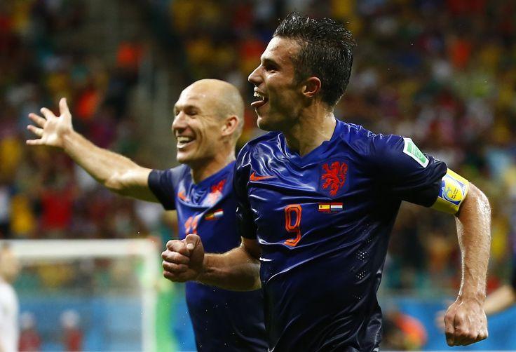 En equipe national avec son compatriote Robben #PaysBas #Robben #VanPersie #Nike #9ine @VanPersie