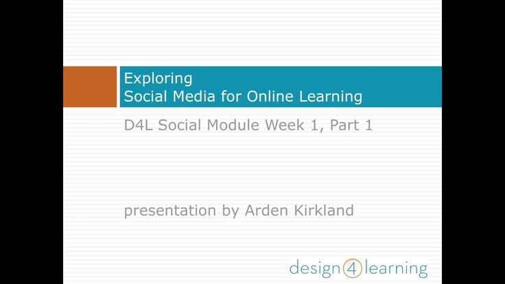#d4lsocial A playlist on YouTube with all the video presentations for the Social Module for the Design for Learning Program.