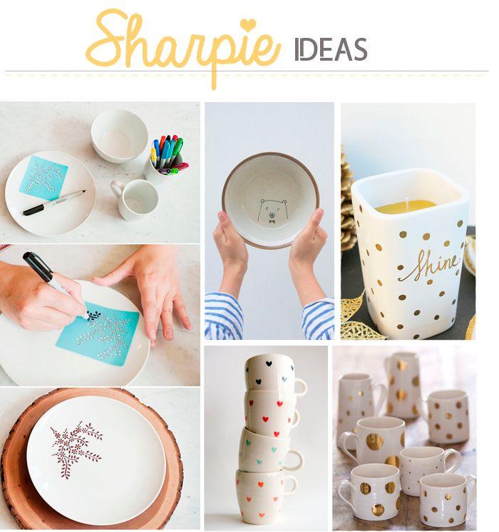 17 mejores ideas sobre tazas pintadas con rotulador en - Tazas decoradas a mano ...