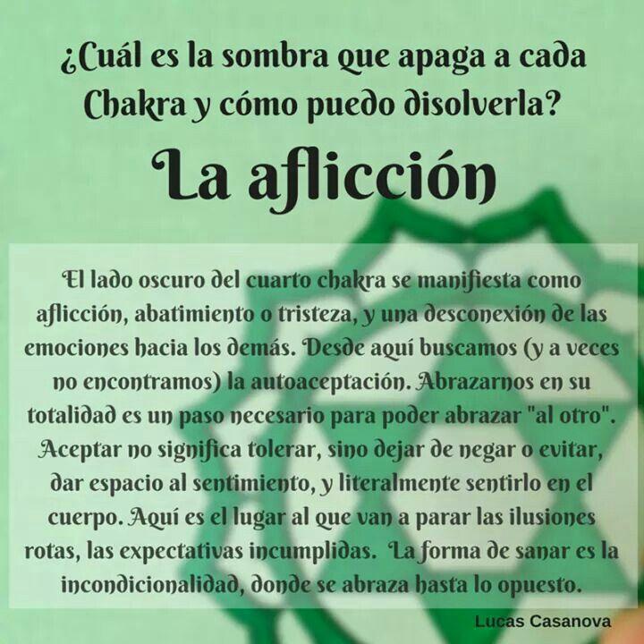 Chakra del corazón, aflicción, Heart chakra, affliction