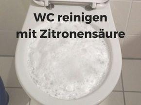 WC reinigen mit Zitronensäure