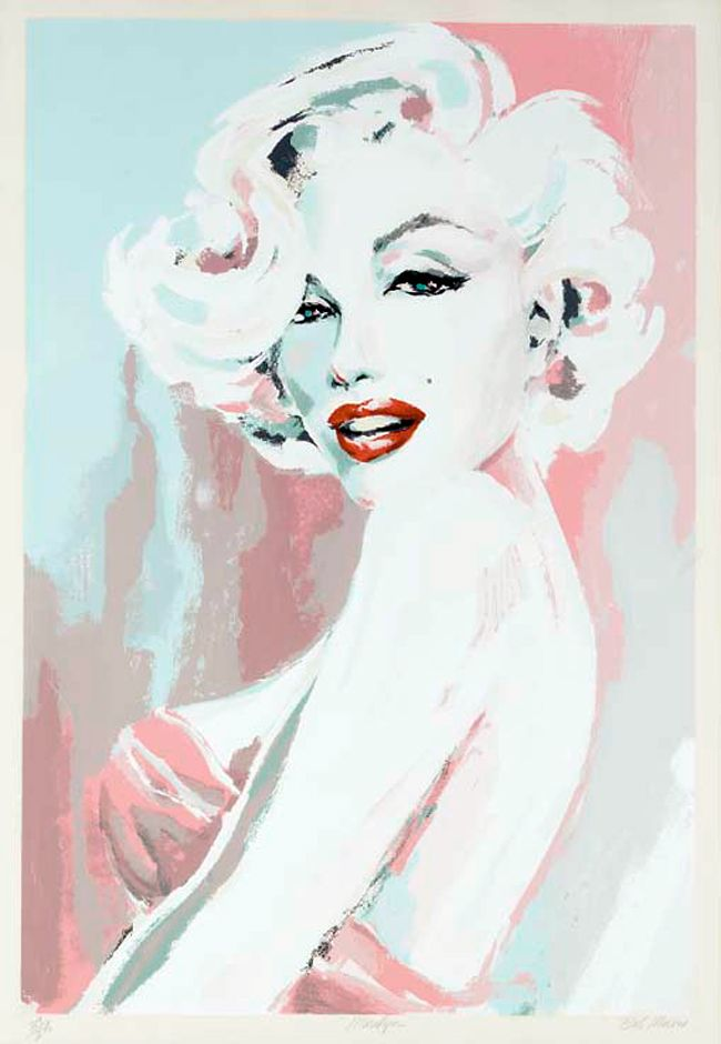 Marilyn Monroe by Bob Mackie. Check out Marilyn Monroe in Colour on Facebook xxx