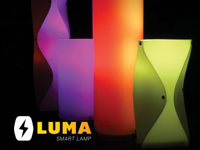 Luma: Charge your device, listen to music, make a call and set the mood all with this phone controlled smart lamp.