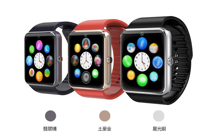Smart Watch Android GT08 Clock With Sim Card Slot Push Message Bluetooth Connectivity Android Phone Better Than DZ09 Smartwatch