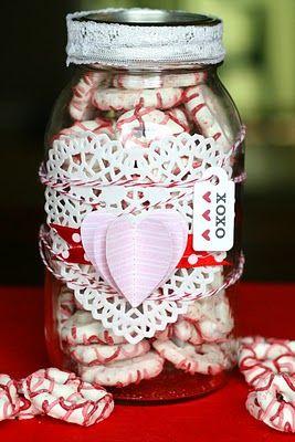 Vintage Valentine Candy Jar