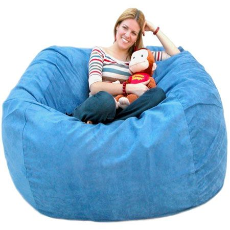 This is the perfect bean bag chair that can fit anywhere. It has a protective liner, child safety zipper and a microfiber cover that can be removed and it is machine washable. . The material is made of 100% polyester that is made to feel like suede. Its urethane foam will spring back to normal size after every use and won't go flat like the traditional bean bag chairs. If you spend only five minutes on it, your body will be very pleased.