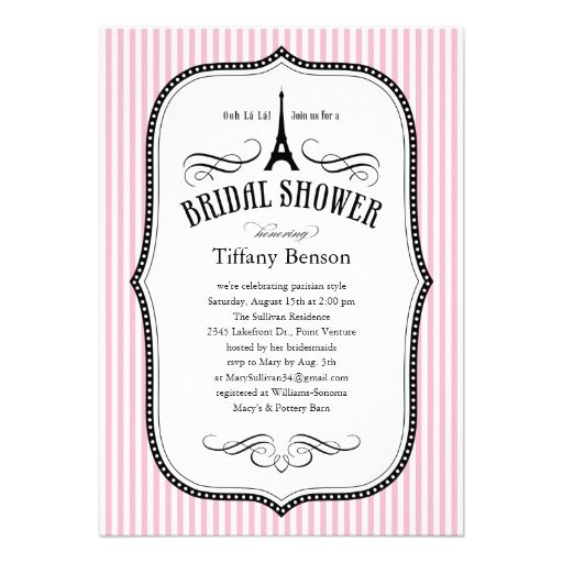 22 best french bridal shower invitations images on pinterest paris bridal shower invitations stopboris Images