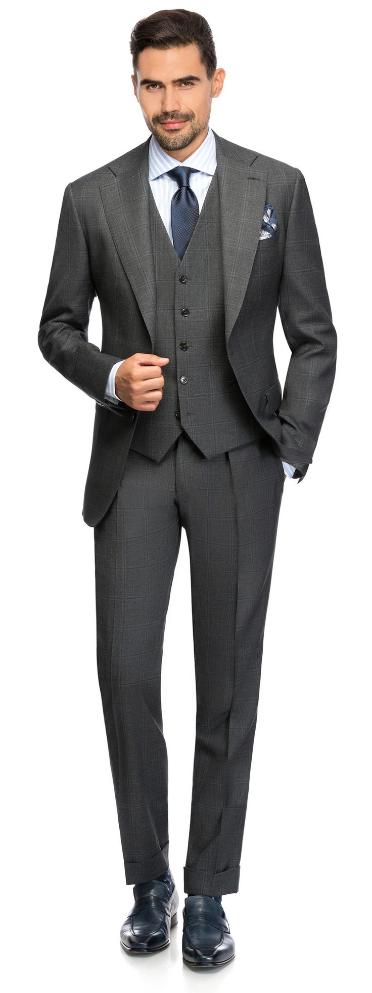 FANCY OVER CHECK SUIT