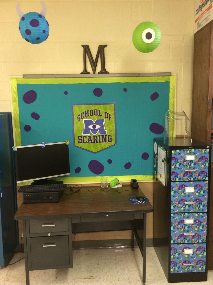 Classroom Ideas Diy : Monster s university themed classroom