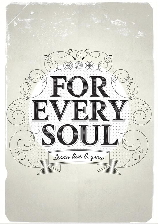 For every soul learn live and grow word art print poster black white motivational quote inspirational words of wisdom motivationmonday Scandinavian fashionista fitness inspiration motivation typography home decor
