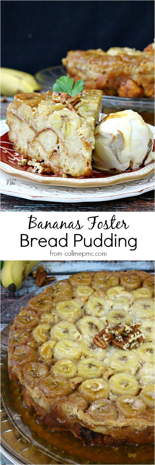 Bananas Foster Bread Pudding Recipe is a combination of 2 famous New Orleans dessert recipes. It's a easy dessert rcipe that's rich, buttery, and moist.