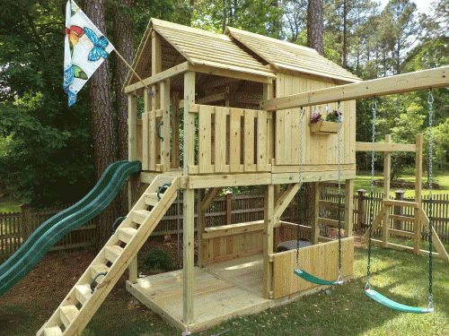 Outdoor Play Fayetteville  Backyard Playground  Hand Crafted Wooden Playsets & Swing Sets - Gallery