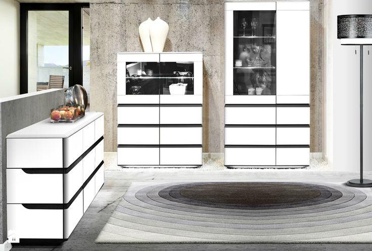 White furniture, natural materials - simple and elegant. Zebra Home Concept  #livingroom #KloseFurniture #woodenfurniture