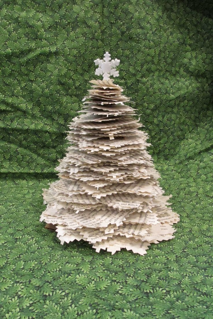 Christmas Tree made from an old book   Book Art   Pinterest