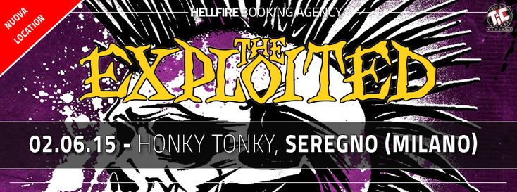 #Punk news:  THE EXPLOITED a Milano (Seregno) http://www.punkadeka.it/the-exploited-a-milano-seregno/ Hellfire Booking annuncia che a causa di problemi non dipendenti dall'organizzazione ne dalla band ma dalle autorità competenti in Ticino il concerto degli EXPLOITED in programma il prossimo 2 Giugno al Peter Pan di Bellinzona sarà spostato presso le strutture dell'HONKY TONKY di S...