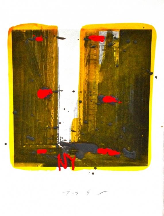 """NY, 2010"" by Tony Soulié -  Mixed technique on wood 60 x 90 cm #NY #Soulier #photograph #painting #art"