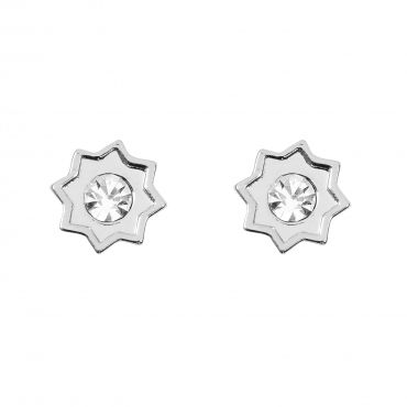 """Starburst Earrings in Silver - Zen Earrings - Available in Gold. Get 25% off these earrings with code """"foxypin"""" http://www.foxyoriginals.com/Starburst-Earrings-in-Silver.html Tags: silver earrings, starbust, imaginary voyage, silver jewelry, foxy originals, studs"""