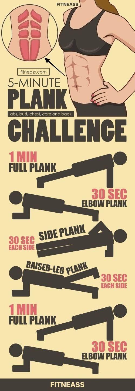 5-Minuten-Dielentraining ohne Bewegung für Bauchmuskeln, Brustkorb und Rücken