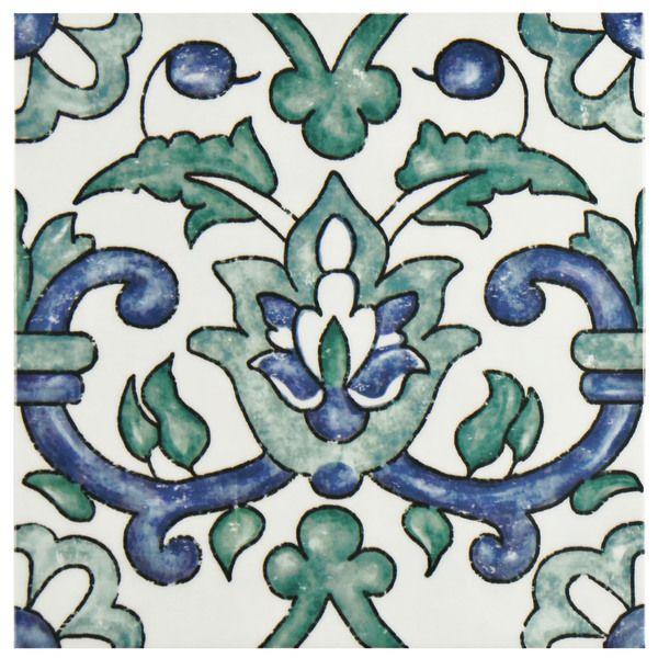 SomerTile 7.75x7.75-inch Borough Gaia Ceramic Wall Tile (Case of 25)
