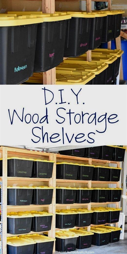 how to make wood storage shelves organization basements garage rh pinterest com