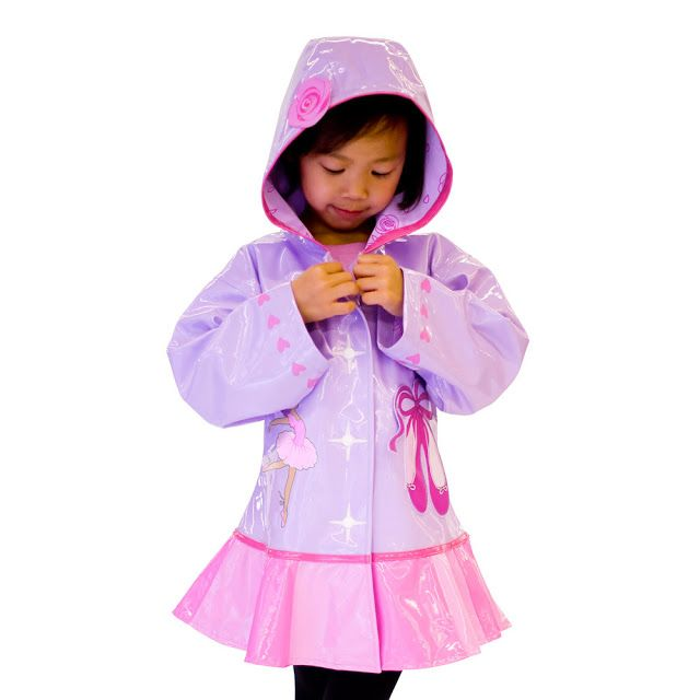 This Kidorable Ballerina raincoat is an adorable eye-catching, stylish raincoat that is made from premium quality PU with a lightweight, comfy printed nylon lining.  This rain coat will keep your child protected from the rain when they are out playing in those FUN puddles.
