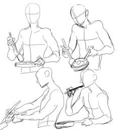 How To Draw Someone Cooking || poses, references