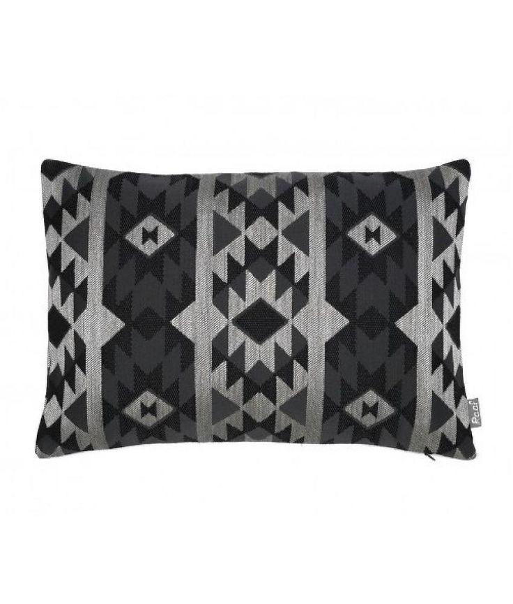 Raaf Sierkussenhoes Marrakech zwart 35x50